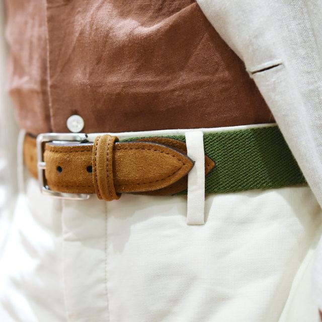 Anderson's 帆布麂皮皮帶